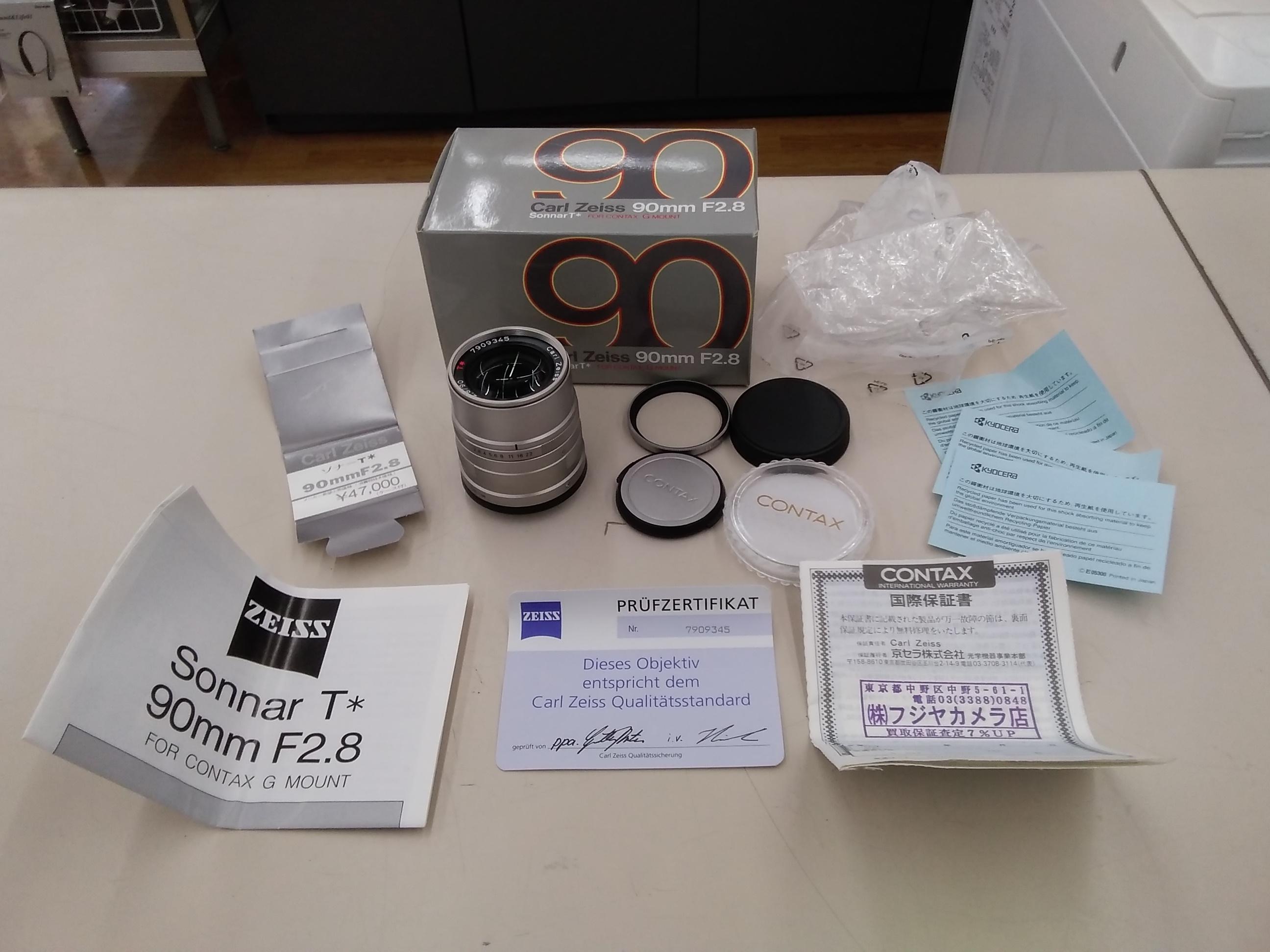 単焦点レンズ 箱、説明書付き|CONTAX