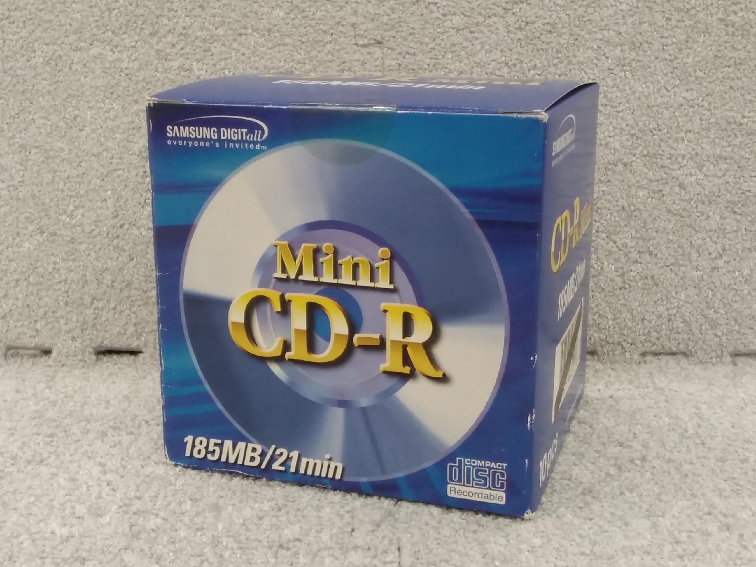 未開封 MiniCD-R 185MB/21min 10pcs|SAMSUNG
