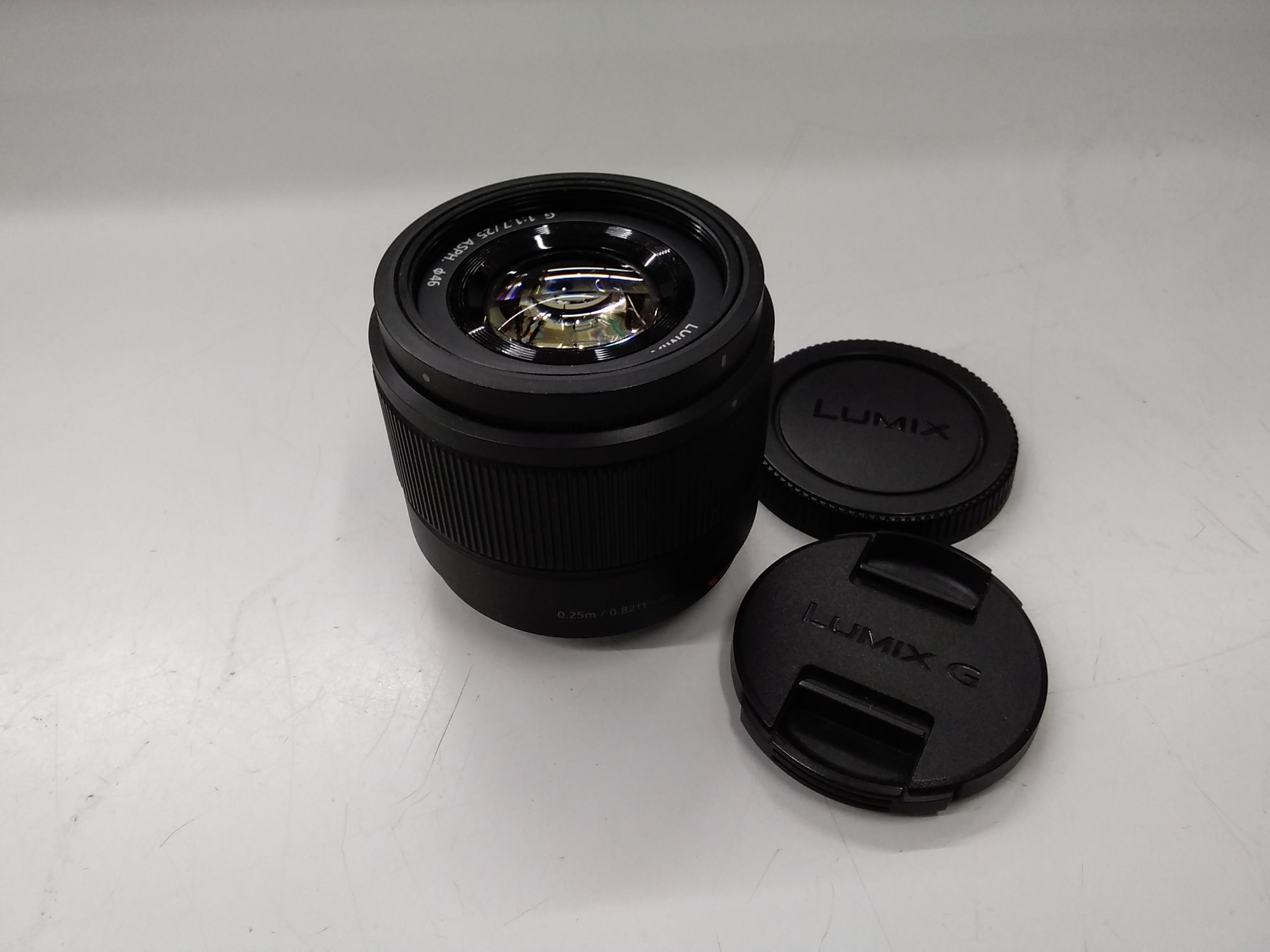 単焦点レンズ LUMIX G 25mm F1.7|PANASONIC