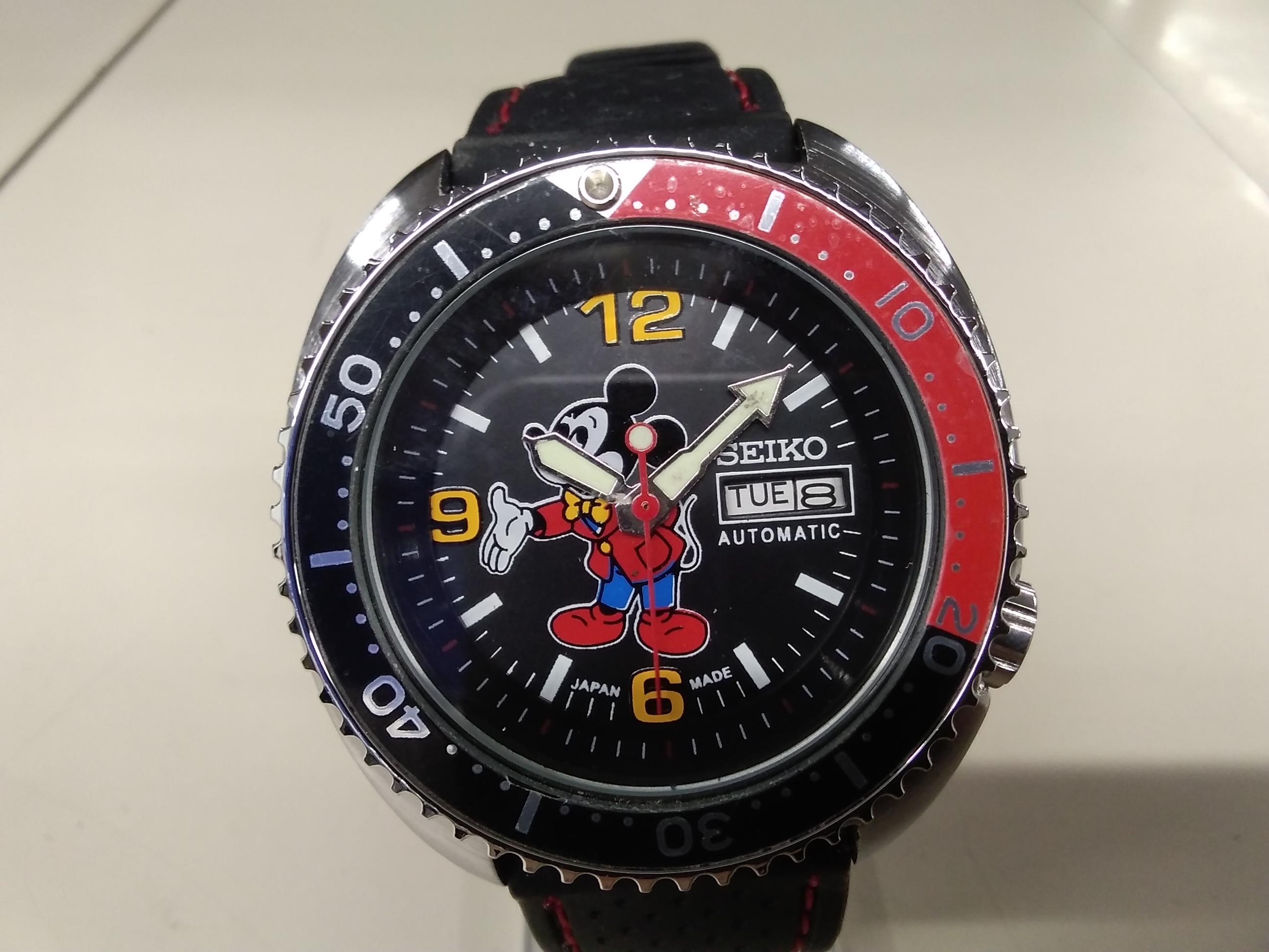 自動巻き腕時計 ミッキーマウスモデル|SEIKO