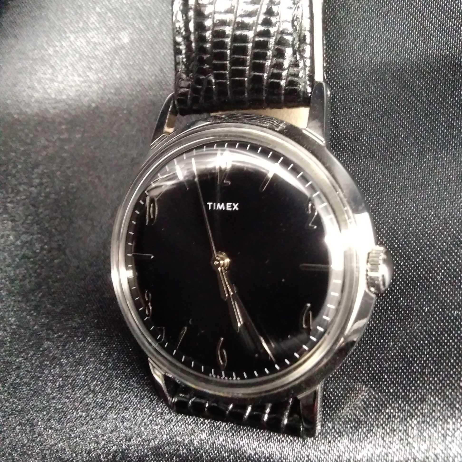 手巻式、1950年代の名作「MARLIN」復刻モデル|TIMEX