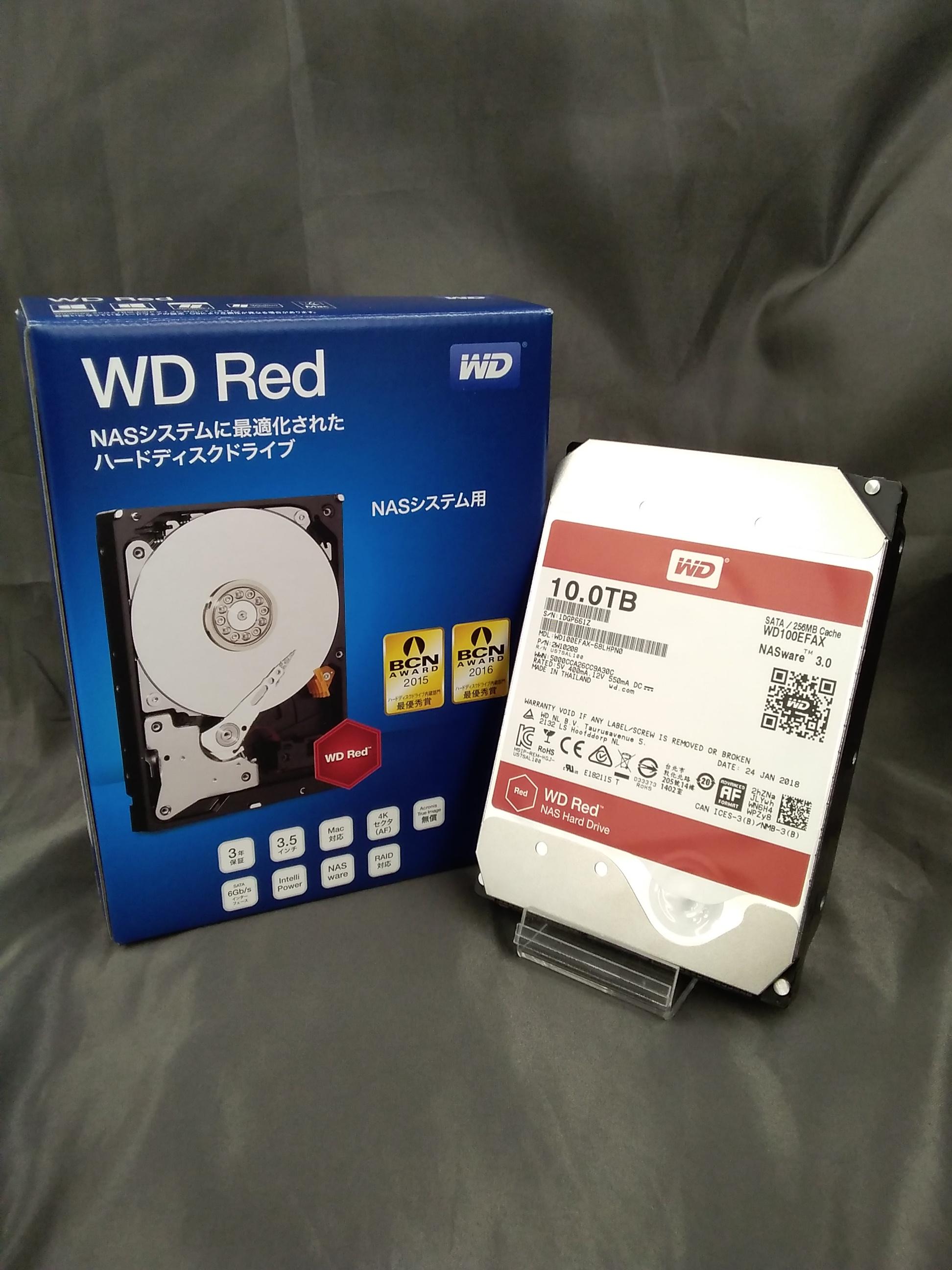 【NASシステム用設計 容量10TBの3.5インチ】|WD RED