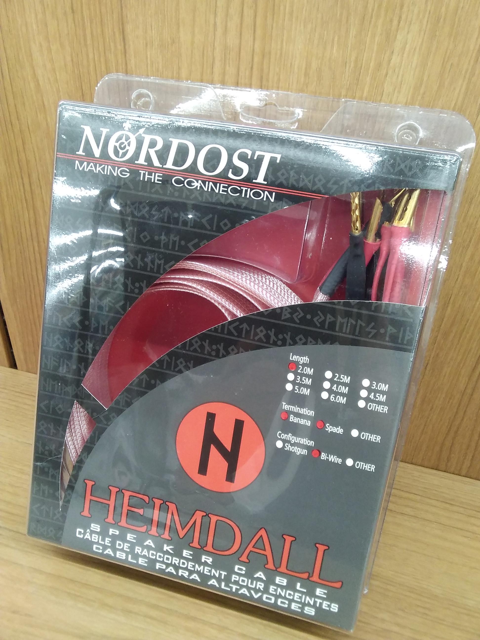 HEIMDALL バナナ-スペード端子 2mペア|NORDOST