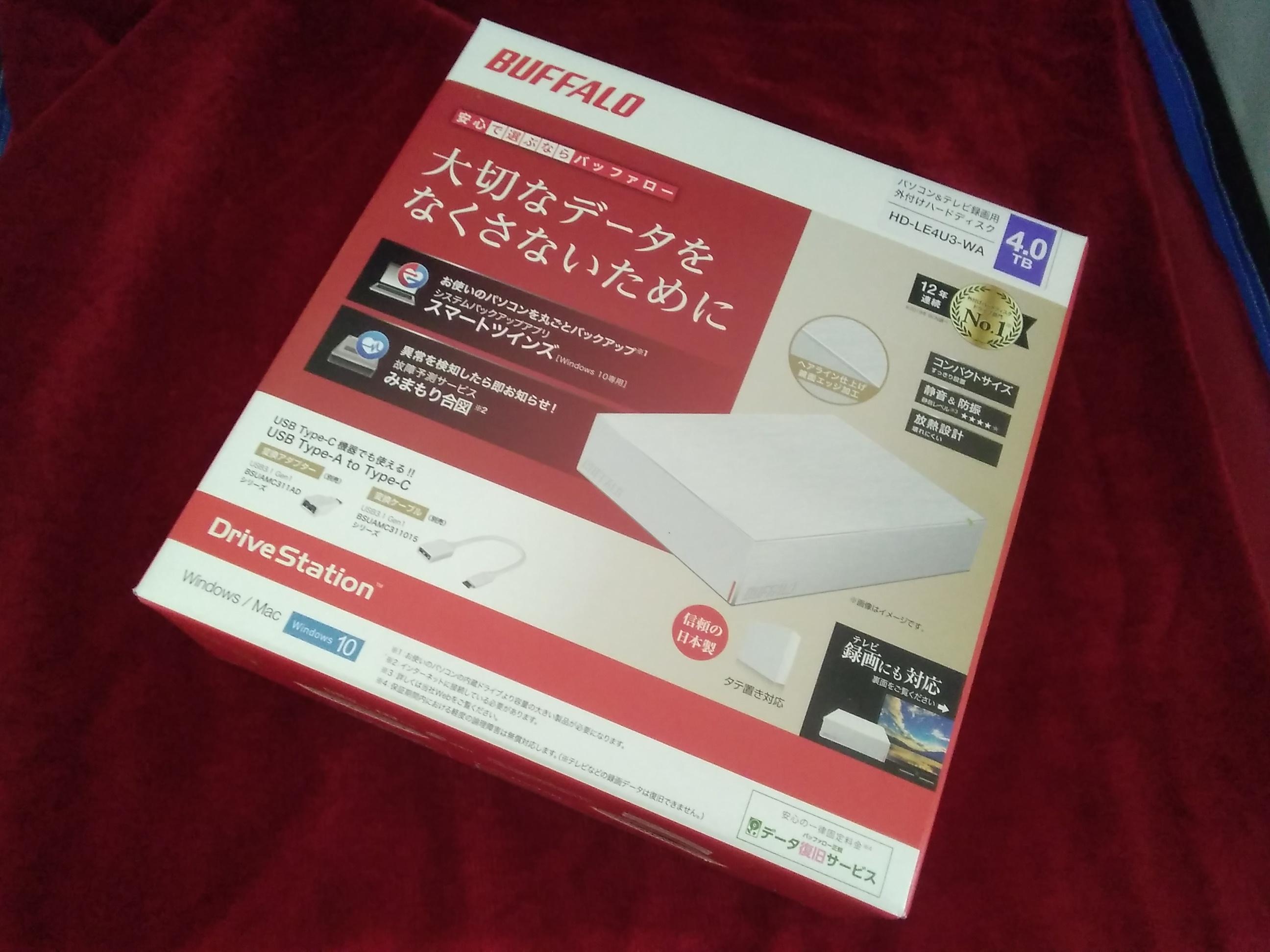 HD-LE4U3-WA/外付けHDD(4TB)|BUFFALO