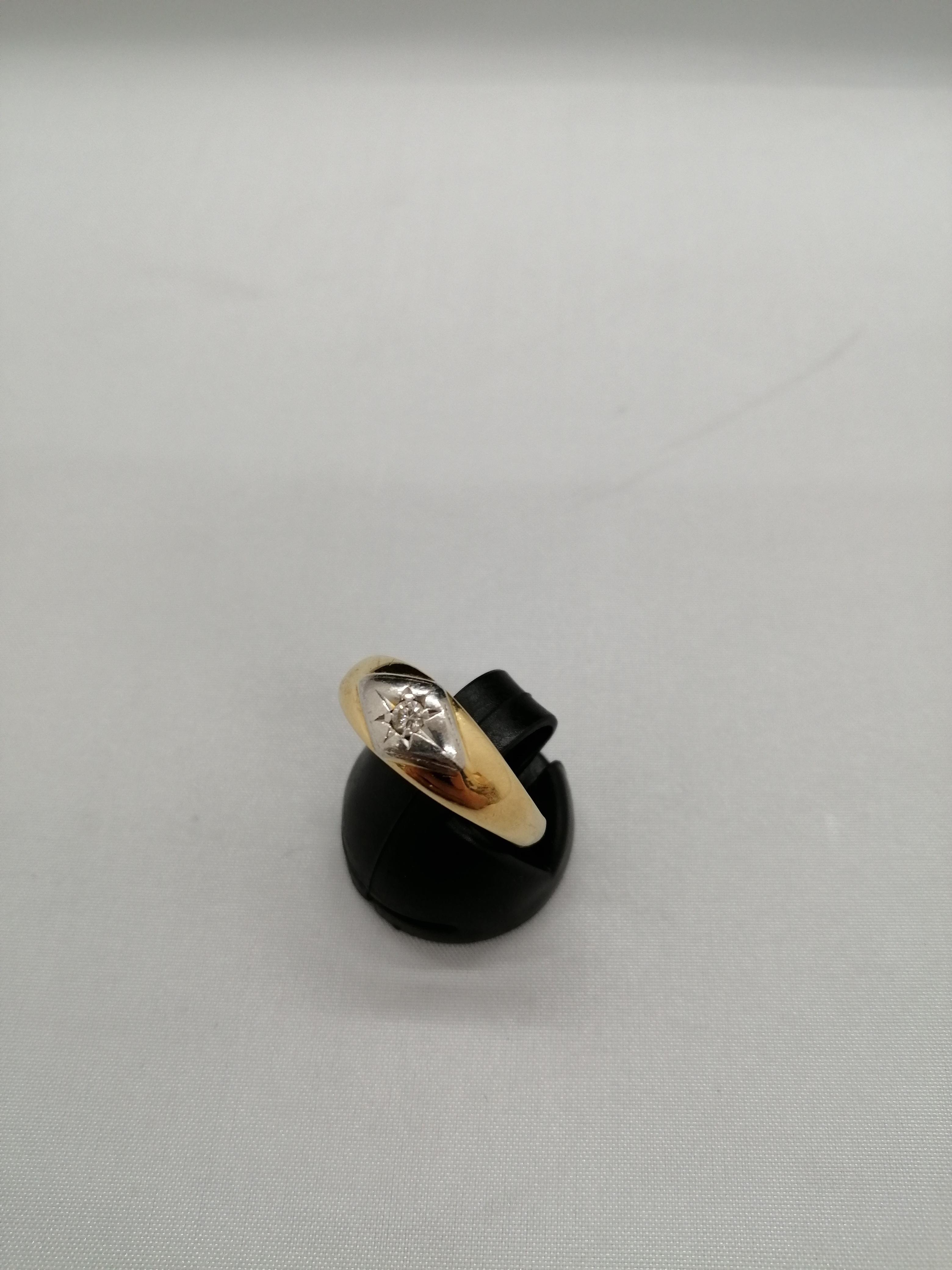 K18PMリング|宝石付きリング