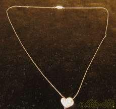K10PGネックレス|宝石付きネックレス
