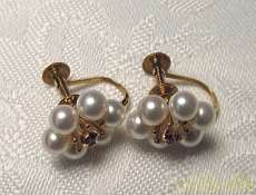 K18YG 宝石付きイヤリング
