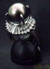 Pt900 リング 14号|宝石付きリング
