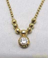 K18ネックレス(石付き) 宝石付きネックレス