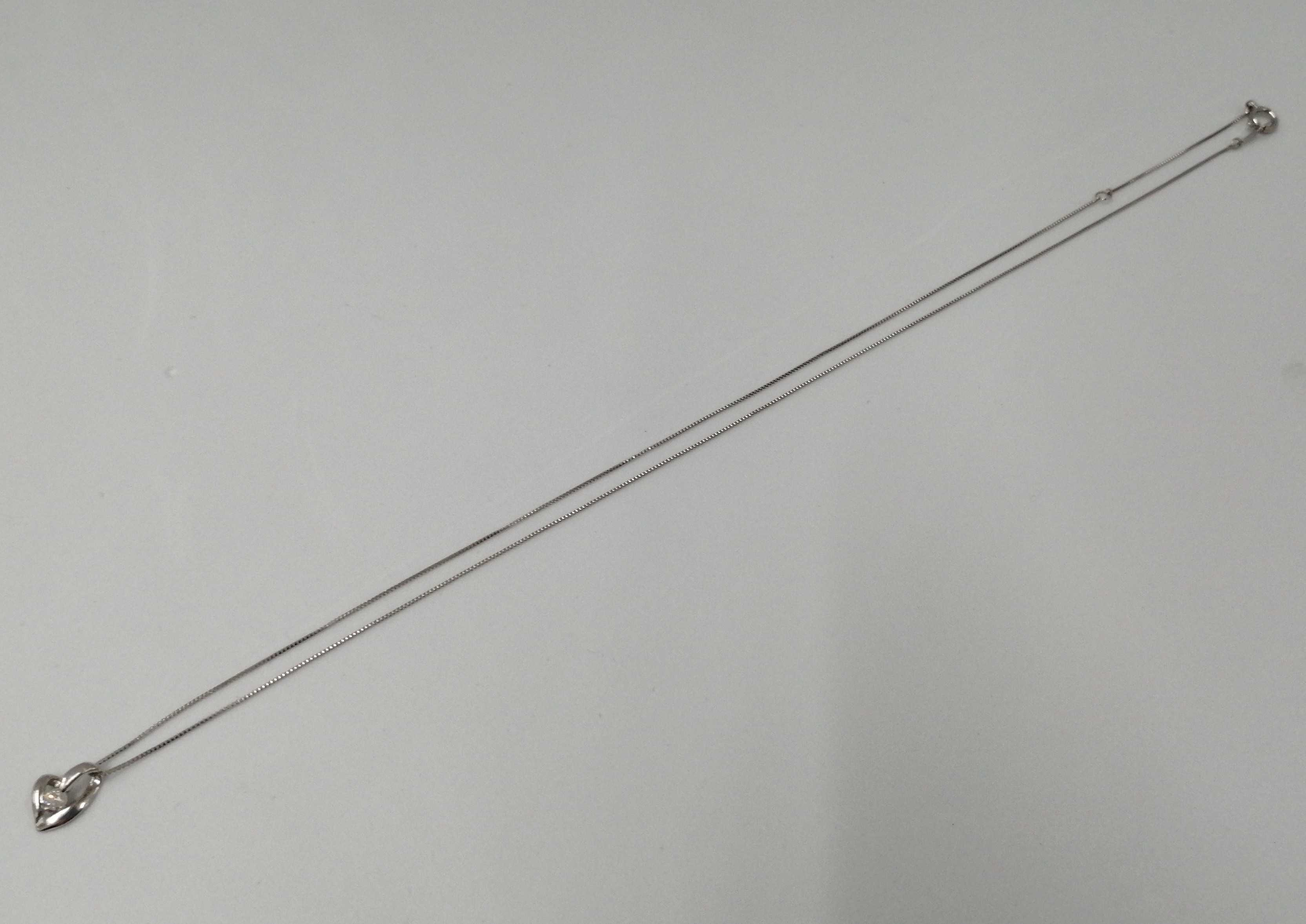 Pt850 40cm|宝石付きネックレス