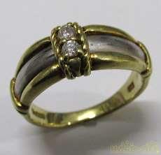 K18/PT900リング(石付き)|宝石付きリング