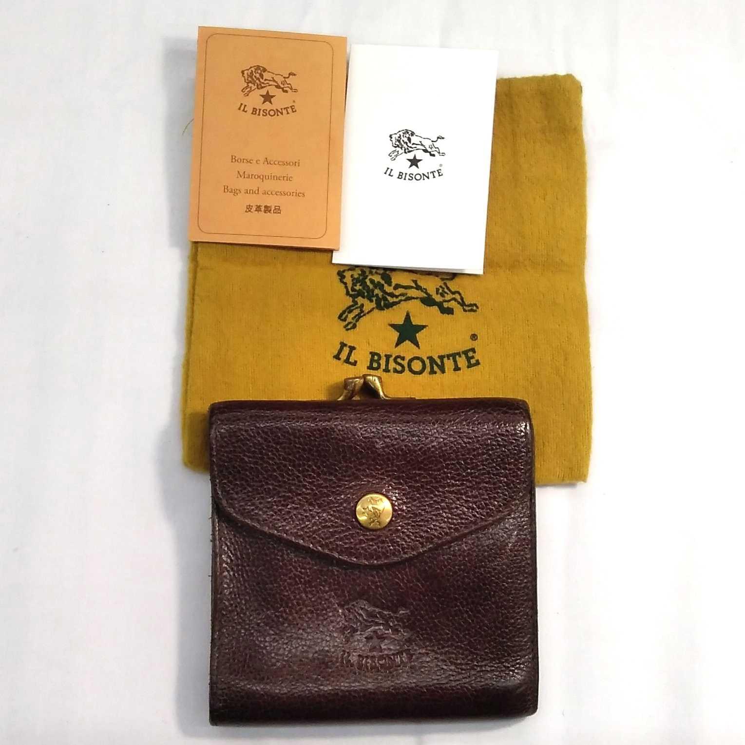 がま口折り財布|IL BISONTE
