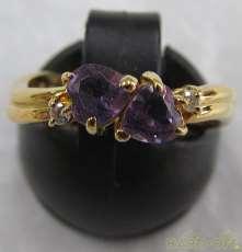 K18リング石付き 宝石付きリング