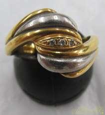 K18PT900リング石付き 宝石付きリング