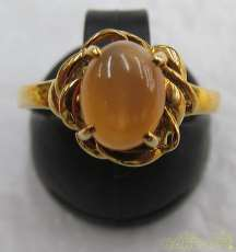K18リング 石付き 宝石付きリング