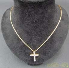 K18ダイヤ付きネックレス