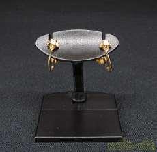K18石付きイヤリング 宝石付きイヤリング