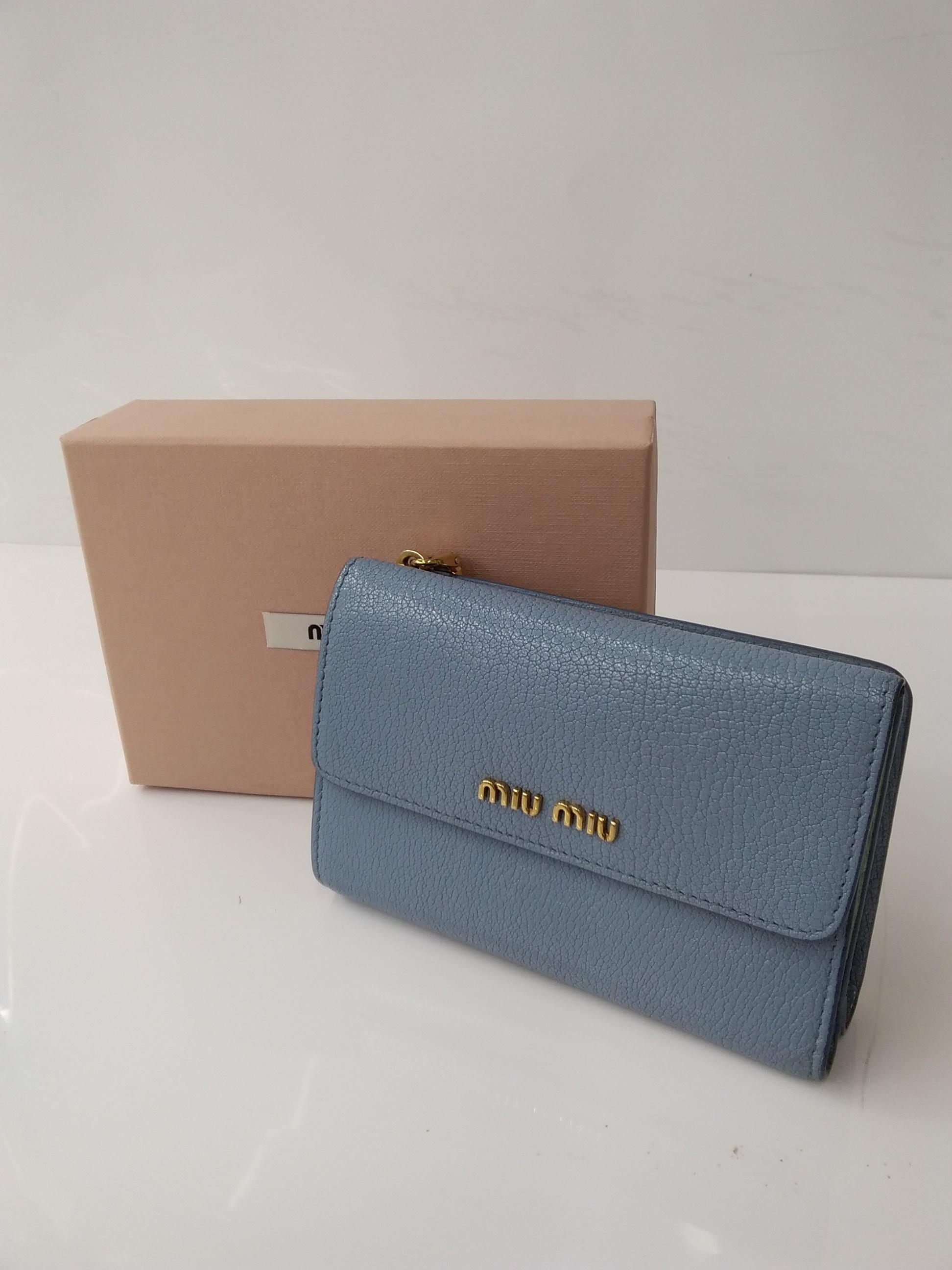 二つ折り財布|MIUMIU