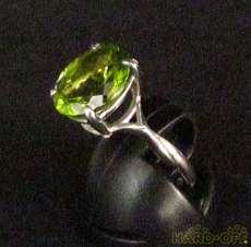 K18WG|宝石付きリング
