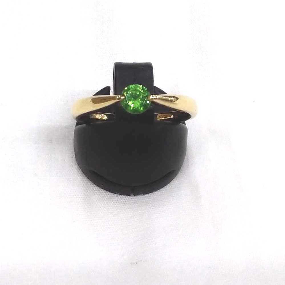 金|K18緑石リング