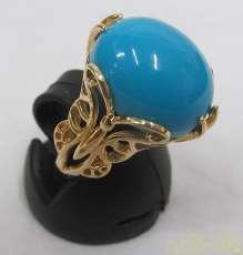 K18リング青石付き 宝石付きリング