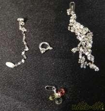 プラチナ|宝石付きネックレス