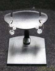 4℃ K10WGピアス|宝石付きピアス