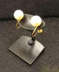 K18YGイヤリング|宝石付きイヤリング
