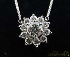 PT850ダイヤ付きネックレス 宝石付きネックレス