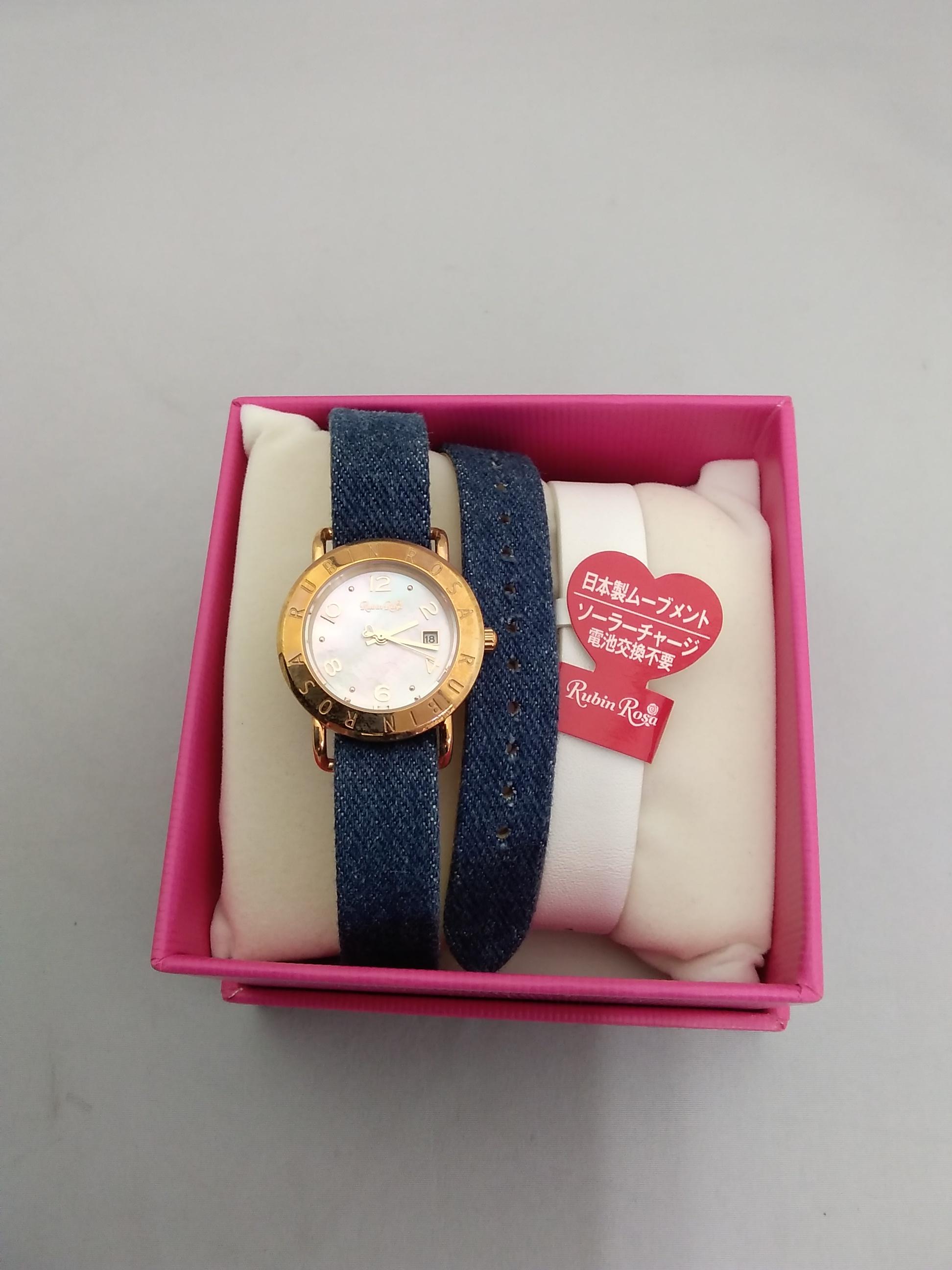 ソーラー電池腕時計|RUBIN ROSA