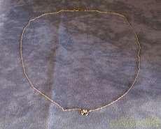 K10YGネックレス|宝石付きネックレス