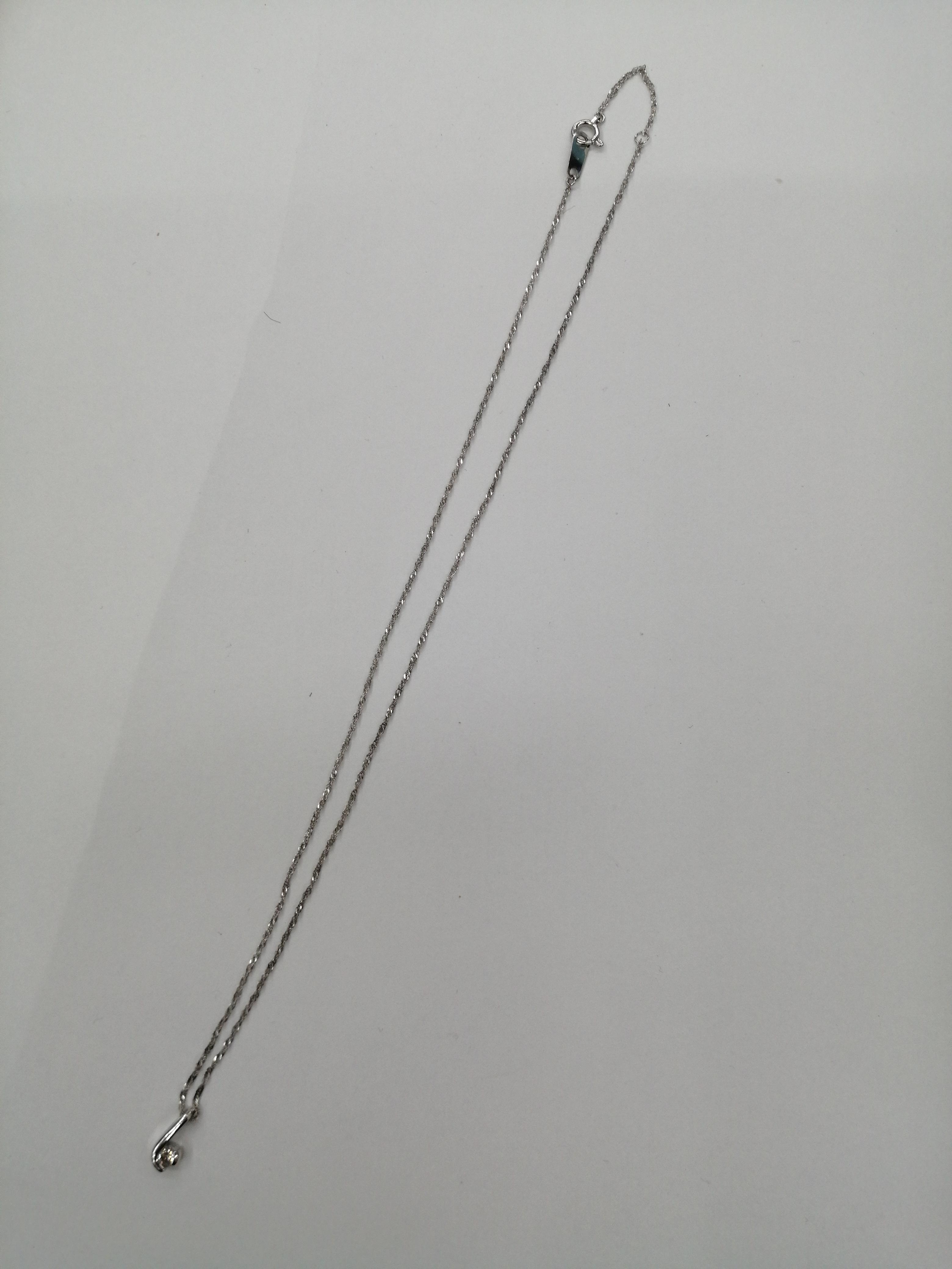 PT850ネックレス|宝石付きネックレス