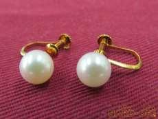 K18イヤリング 宝石付きイヤリング