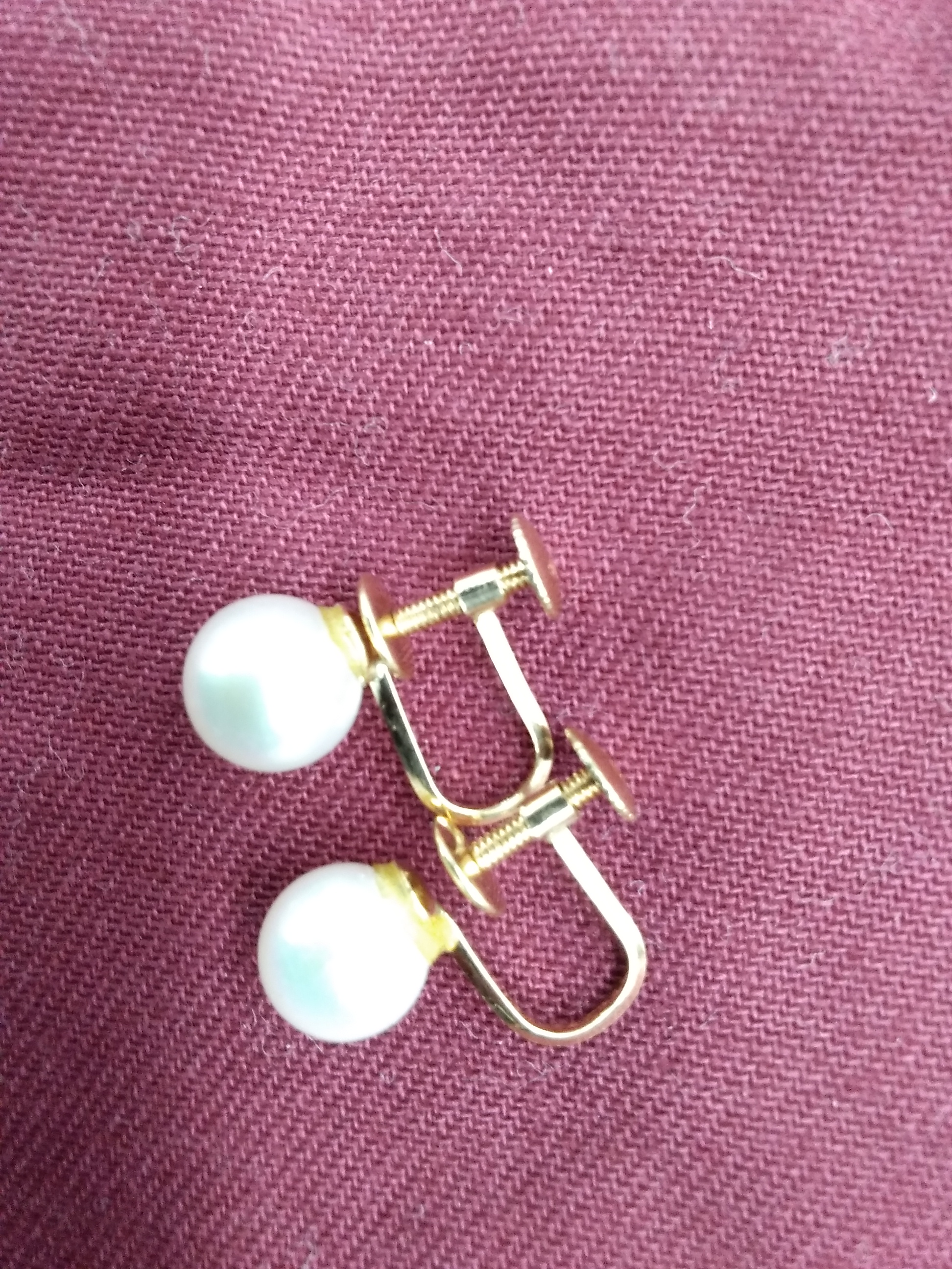 K18 イヤリング|宝石付きイヤリング