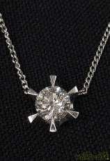 PT850・PT900トップ付きネックレス|宝石付きネックレス