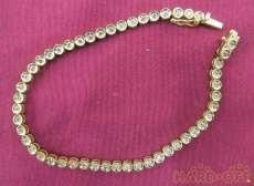 K18ブレスレット 宝石付きブレスレット