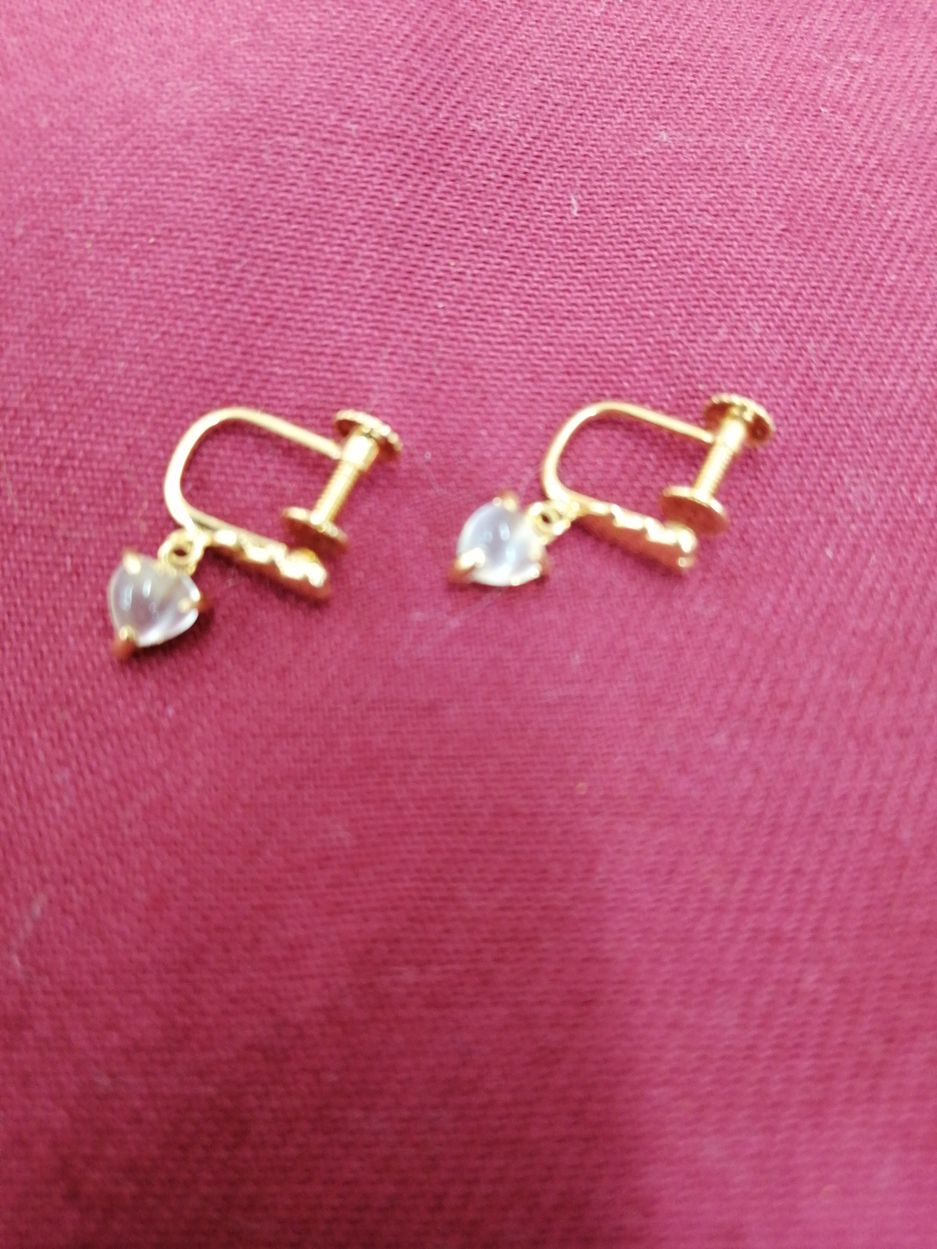 K18イヤリング|宝石付きイヤリング