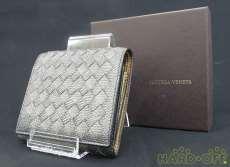 三つ折り財布 グレー|BOTTEGA VENETA