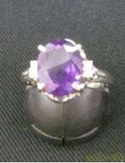 PT900 リング 紫の石付