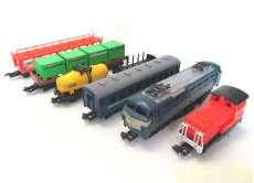 スーパーレール列車、線路、駅舎その他一式セット