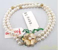 k14白石付きブレスレット 宝石付きブレスレット