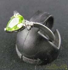 Pt800リング|宝石付きリング