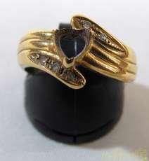 金|宝石無しリング