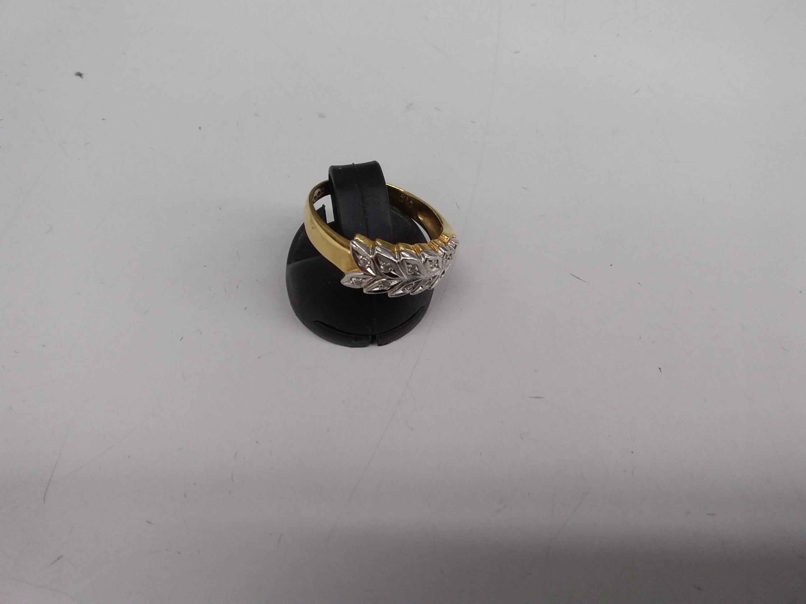 K18PT 900石付きリング k18pt900