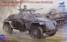 独軍SD.KFZ221軽偵察装甲車4×4機銃搭載型ブロンコ NO ID