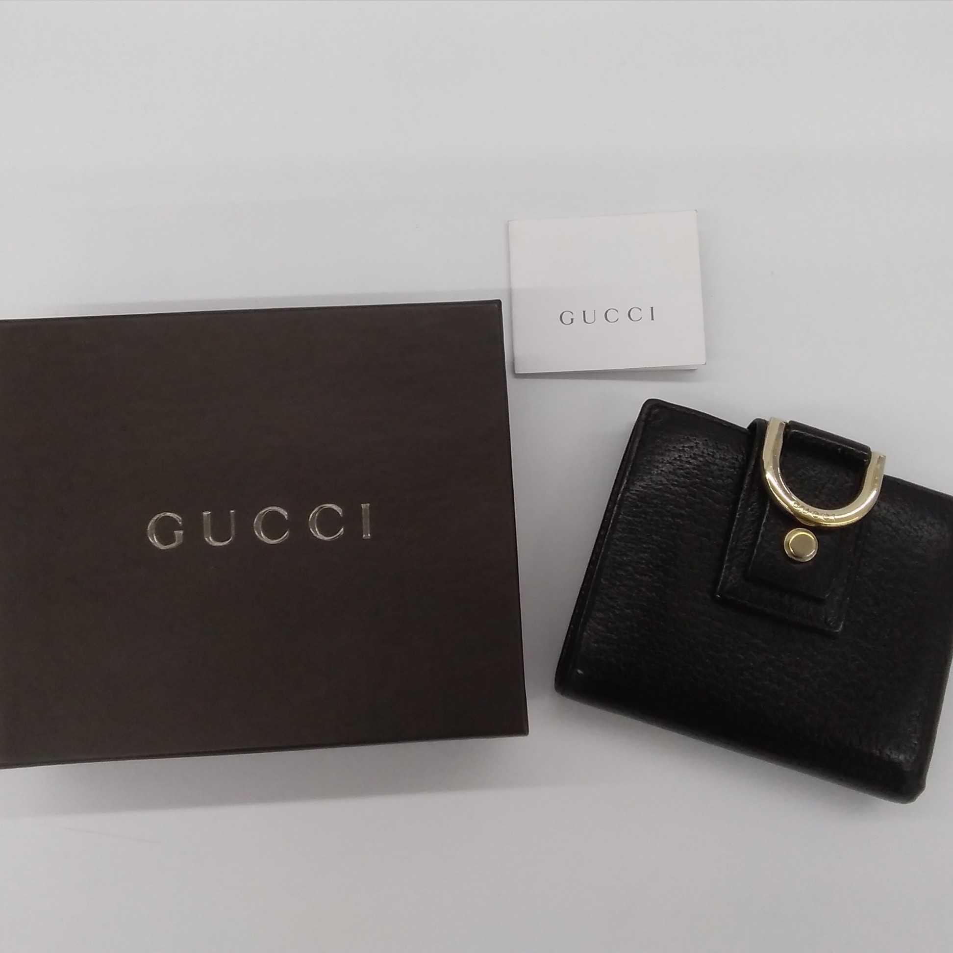 GUCCI☆レザー 二つ折り財布|GUCCI