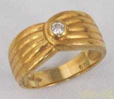 K18リング(石付)|宝石付きリング