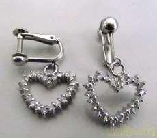PT900イヤリング(石付き)|宝石付きイヤリング