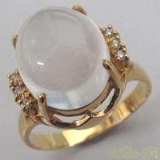 K18リング(石付き) 宝石付きリング