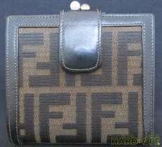 ズッカ柄2つ折りがま口財布|FENDI